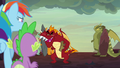 Garble antagonizing Rainbow Dash and Spike S7E25.png