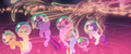 Mane Six and Spike showered in seapony magic MLPTM.png