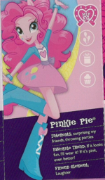 Pinkie Pie as seen in the Equestria collection pamphlet cropped