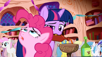Pinkie Pie explaining the party to Twilight Sparkle S1E1