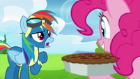 "Rainbow Dash ""getting a little out of hoof"" S7E23"