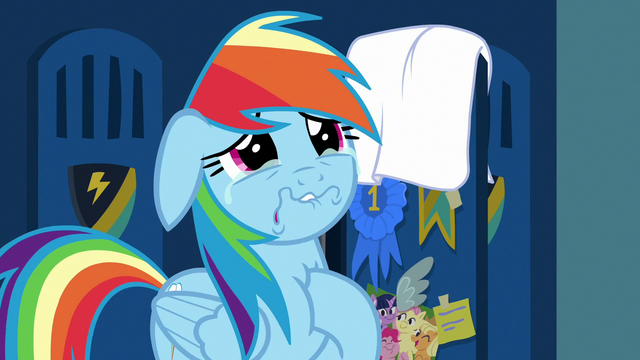 File:Rainbow Dash crying tears of remorse S7E7.png