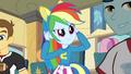 Rainbow Dash putting ears on EG.png