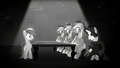 Rainbow sees Rarity trying to charm the castle guards S5E15.png