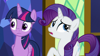 Rarity -I'm not sure that's exactly- S8E24