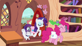 Rarity and Pinkie arrive with their pets S03E11.png