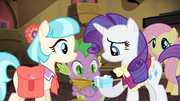 Rarity being given the box S4E08