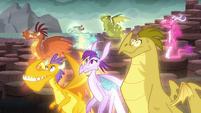 The dragons hear Torch's command S6E5