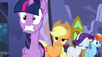 Twilight shocked by trumpet sounds S5E11