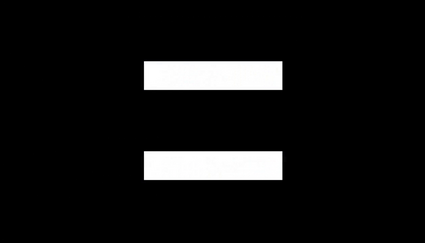 White equal sign on black background S5E1