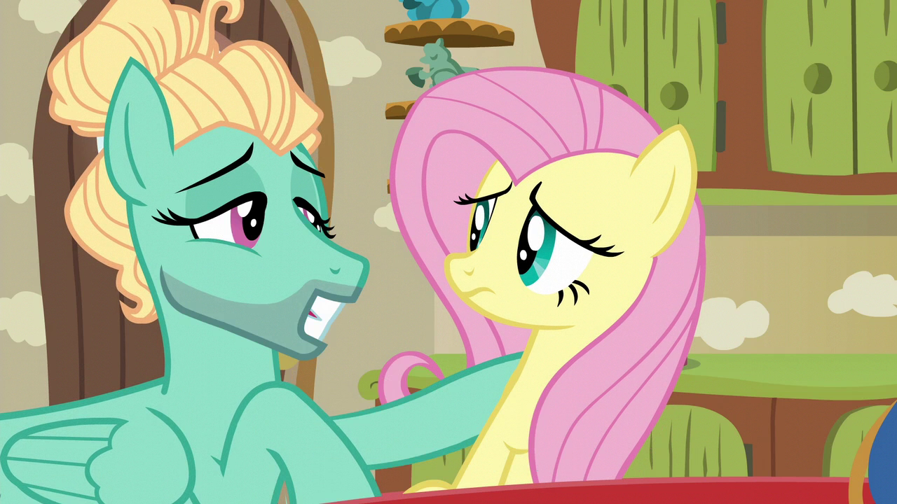 Image Zephyr Breeze Batting His Eyelashes At Fluttershy S6e11g