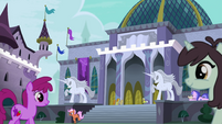 Alternate exterior shot of Canterlot Library EGFF