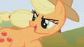 Applejack looks back while she is still in the lead S1E13.png
