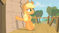 Applejack putting hoof on wall S1E18.png