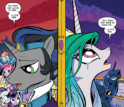Comic issue 18 Sombra and Celestia