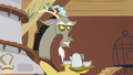 Discord holding tea set while disappointed S6E17.png
