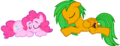 FANMADE B-mon and PinkiePie sleepy....png