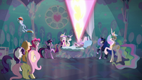 Flurry Heart releases a tremendous blast of magic S6E1