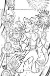 Nightmare Knights issue 3 cover A uncolored