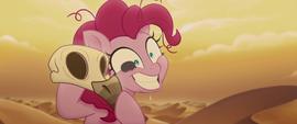 Pillbug crawling across Pinkie Pie's face MLPTM