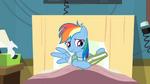 Rainbow Dash nervously opening book S2E16