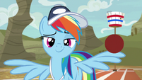Rainbow balancing a ball on other wing S9E6