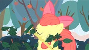 S04E17 Apple Bloom grabi liście