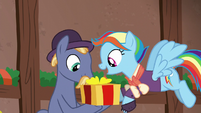 Snowdash giving stallion a present S6E8