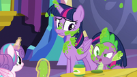 "Spike ""favorite thing to decorate a room with"" S7E3"
