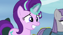 Starlight Glimmer grinning nervously S8E3