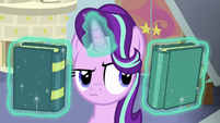 Starlight Glimmer swaps the two books S8E12
