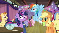 Twilight, RD, and AJ hear Sunburst S9E16