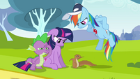 Twilight & Rainbow Dash hear squirrel S2E22