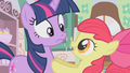 Apple Bloom tells Twilight to try again S01E12.png