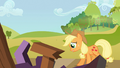 Applejack cries over ruined reunion S03E08.png