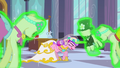Chrysalis as Cadance with the mannequins S2E26.png