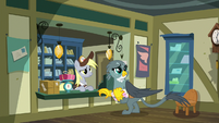 Derpy and Gabby hear someone enter S9E19