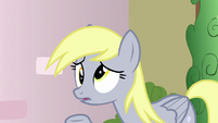 Derpy realizes her muffin is gone S7E15