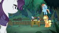 Fake Rarity finds Rainbow and Applejack S8E13