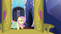 "Fluttershy straining ""I'm sure we'll figure it out"" S5E23"