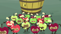 Living apples starting to disperse S9E23