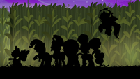 Main cast frightened silhouettes S5E21