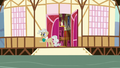 Mayor Mare waving to the Mane Six S5E19.png