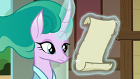 Mistmane reading her delivered message S7E16