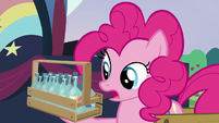 Pinkie looks at the beverages S5E24