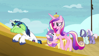 "Princess Cadance ""Flurry may be airsick"" S7E22"