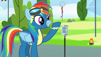 Rainbow Dash finishes her speech S7E7