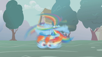 Rainbow spinning on the ground S1E06