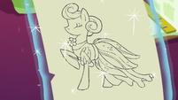 Rarity's Morning Sunshine Tulip Frock sketch S7E6