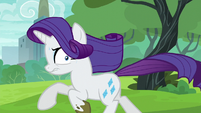 Rarity galloping away from Maud S6E3